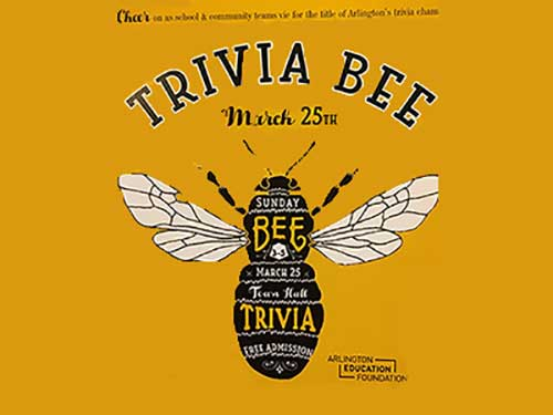Trivia Bee Image on yellow background